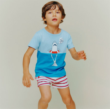 MILK ON THE ROCKS男童T恤 深受小朋友的喜��