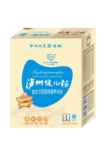 泸州健儿粉厚杰盒装系列益生元钙铁锌营养米粉