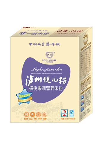 泸州健儿粉厚杰盒装系列核桃果蔬营养米粉