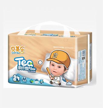 贝芙乐茶纤维婴儿纸尿裤M码