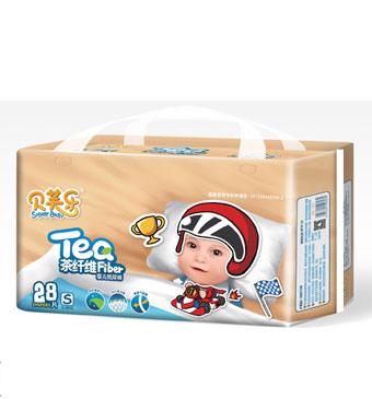 贝芙乐茶纤维婴儿纸尿裤S码