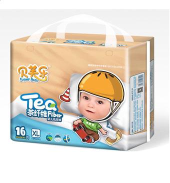 贝芙乐茶纤维婴儿纸尿裤XL码