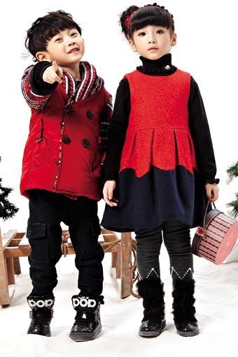 韩维妮童装品牌中大童服装套装2014年秋冬新品