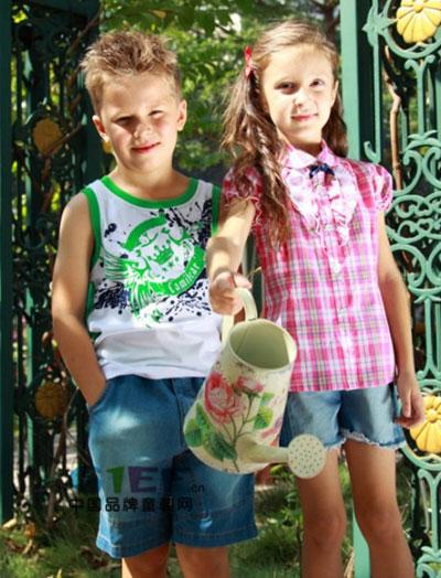 可米熊童装品牌中大童服装男童装2014年春夏新品