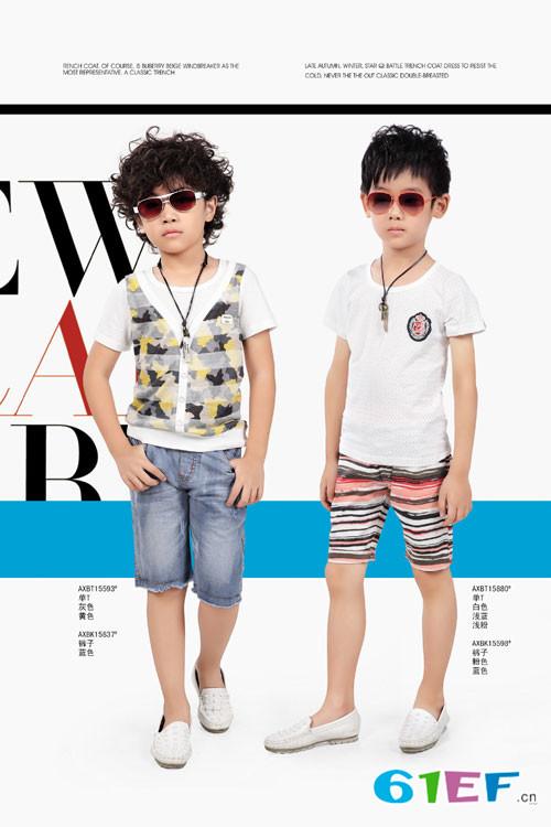 艾阿琪童装爱心果品牌中大童服装2015年春夏新品