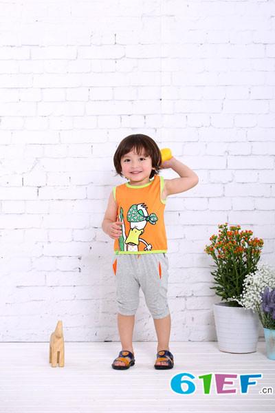 棉果果童装品牌 智能感温变色面料