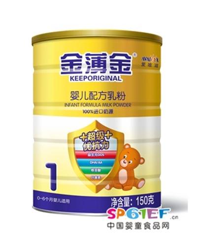 爱唯滋超级优抗力婴儿配方奶粉1段150克