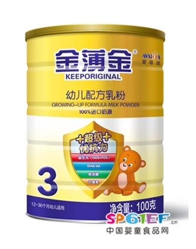爱唯滋超级优抗力幼儿配方奶粉3段100克