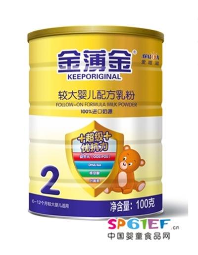 爱唯滋超级优抗力较大婴儿配方奶粉2段100克