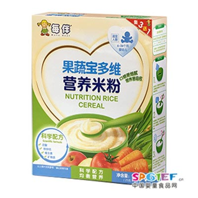 每伴果蔬宝多维营养米粉