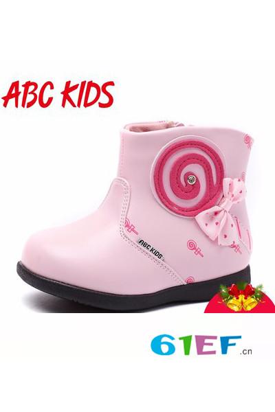 ABC KIDS童鞋品牌2016冬季时尚皮靴