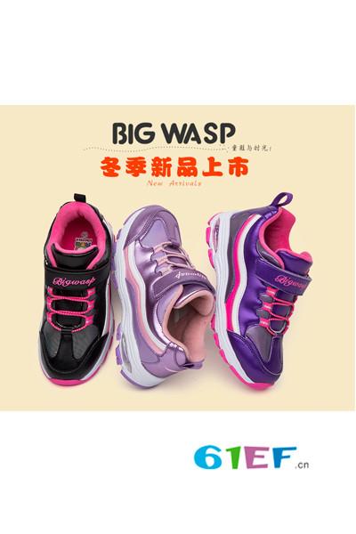 大黄蜂童鞋品牌女童2016年冬季新品