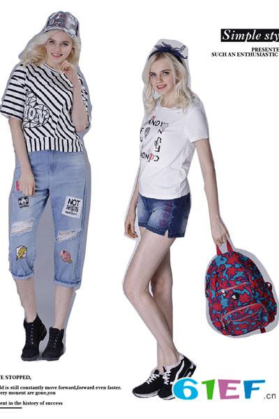 蒙奇奇少女装童装品牌2017年夏季新品