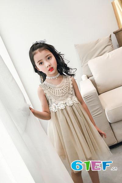 童衣汇童装品牌2017年夏季韩版公主连衣裙