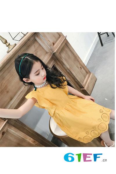 童衣汇童装品牌2017年夏季韩版纯棉连衣裙