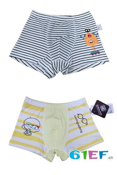 可叮可咚 圣婴比童装品牌2017年夏季男童内裤女童内裤