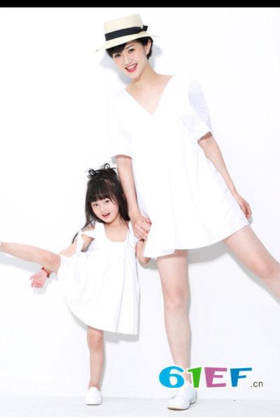 CHICLINLOVE喜�塾H子童�b品牌2017年春夏�H子�b母女�b