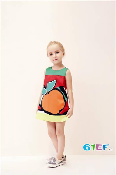 Folli Follie童装品牌2017年夏季欧美公主连衣裙