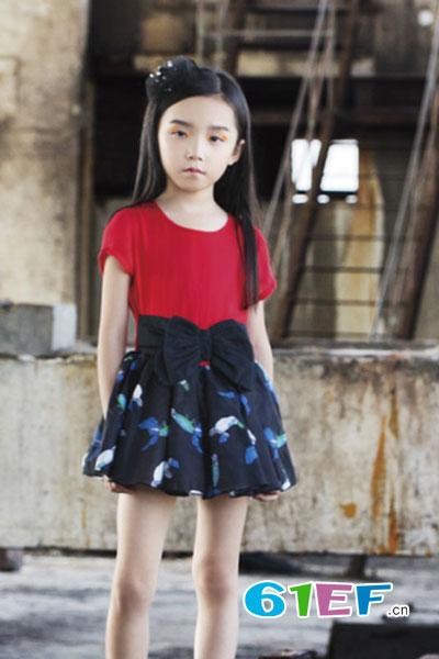 杜立巴童装品牌2017年夏季韩版连衣裙