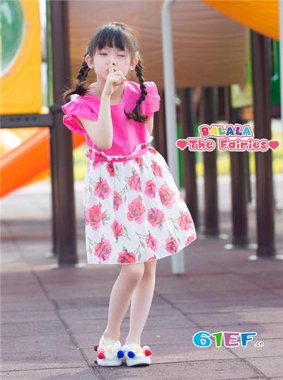 巴啦啦小魔仙童装品牌2017年夏季公主连衣裙