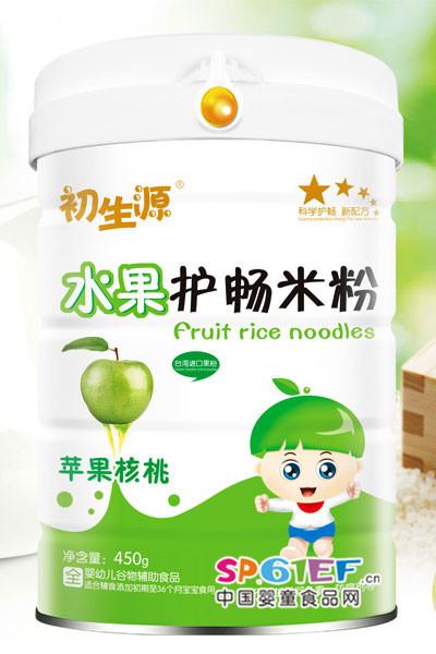 苹果核桃-水果护畅米粉-初生源婴儿食品