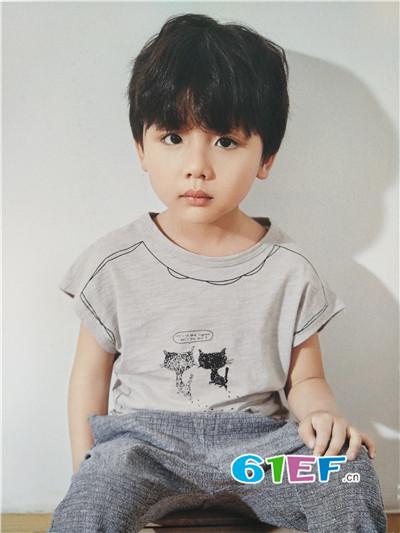 青稚童装品牌2017年春夏棉麻动物T恤