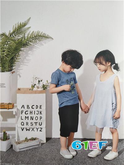 青稚童装品牌2017年春夏棉麻无袖T恤