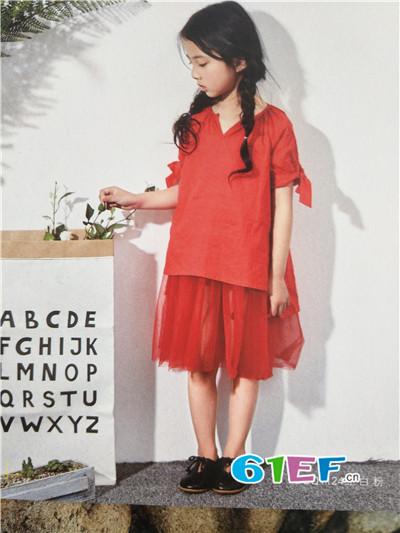 青稚童装品牌2017年春夏中国风短袖连衣裙