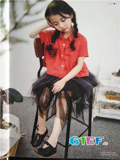 青稚童装品牌2017年春夏潮童短袖衬衫