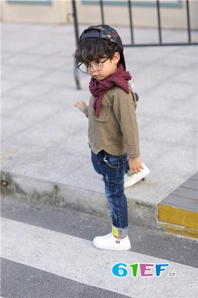 加菲A梦童装品牌2017年秋季潮童长袖T恤