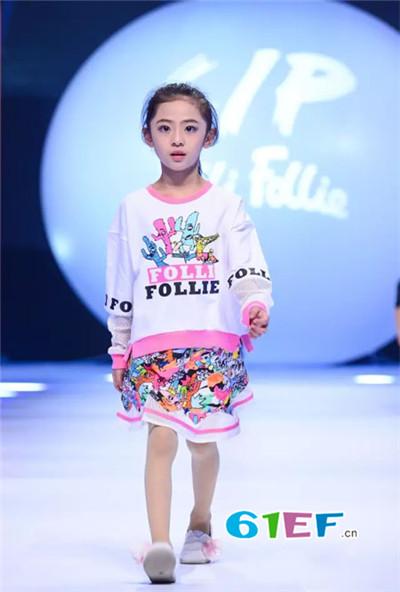 Folli Follie童装品牌2017年秋季时尚字母拼接T恤裙