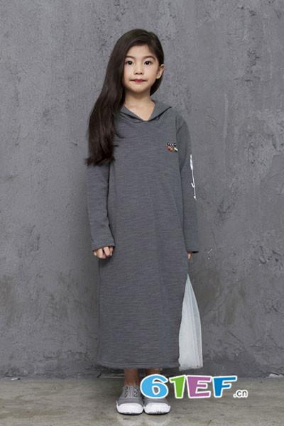 诺麦然NUOMAIRAN童装品牌2017年秋季韩版中长款卫衣
