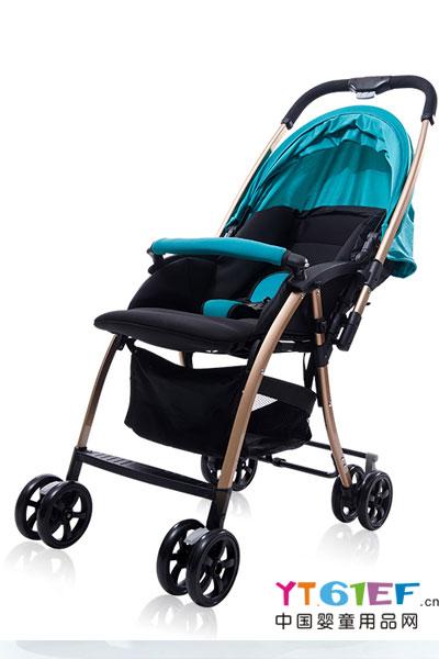 思贝婴儿车可坐可躺轻便可折叠双向四轮避震宝宝婴儿推车伞车