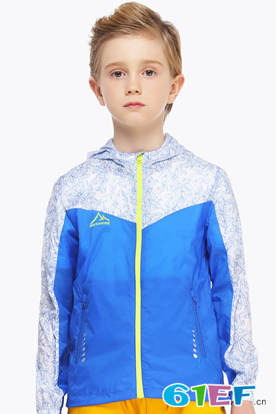 奥特山运动儿童防晒服男童防晒衣女童户外轻薄速干透气外套遮阳衣