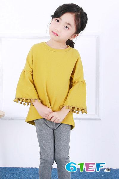2017春季新款儿童T恤 男童女童韩版纯色长袖精品童装打底衫中小童