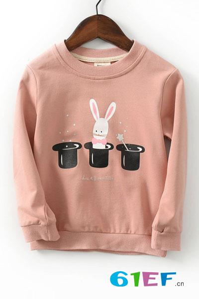 2017外贸春季新款儿童精品卫衣 男童女童韩版卡通纯棉童装打底衫