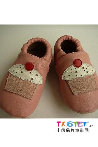 欢乐贝童鞋品牌拼接皮鞋