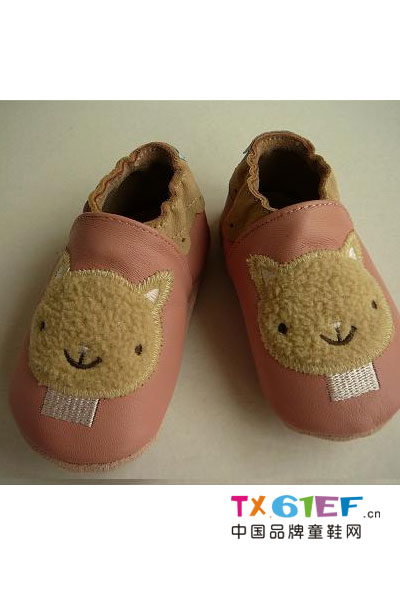欢乐贝童鞋品牌撞色皮鞋