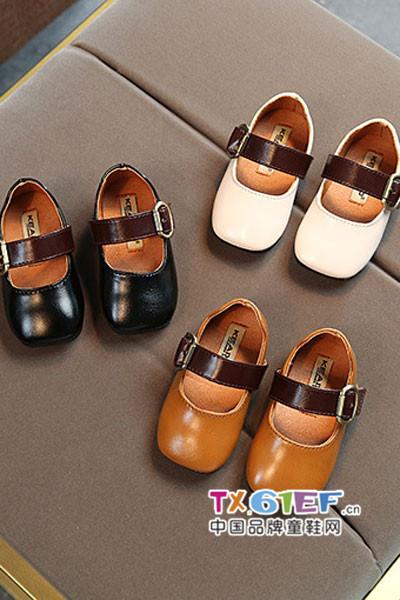 童盈童鞋品牌时尚牛皮单鞋