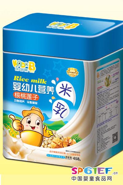 咔嗒熊婴儿食品婴幼儿营养核桃莲子米乳