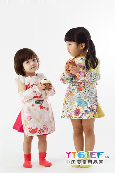 艾普迪韩国todbi儿童围裙印花