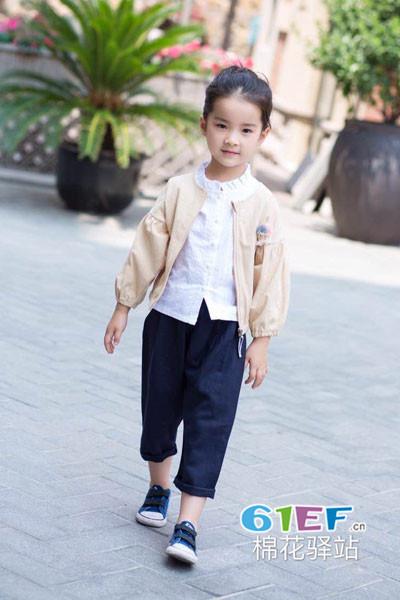 棉花驿站童装品牌2017年秋季休闲短款薄外套