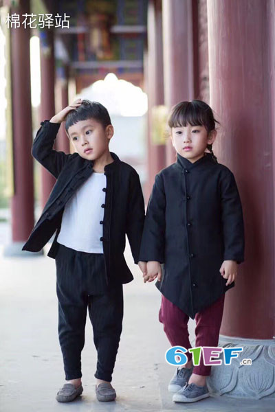 棉花驿站童装品牌2017年秋季复古棉衣外套