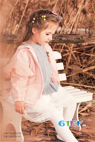 1001夜童装品牌2017年秋季公主风衣