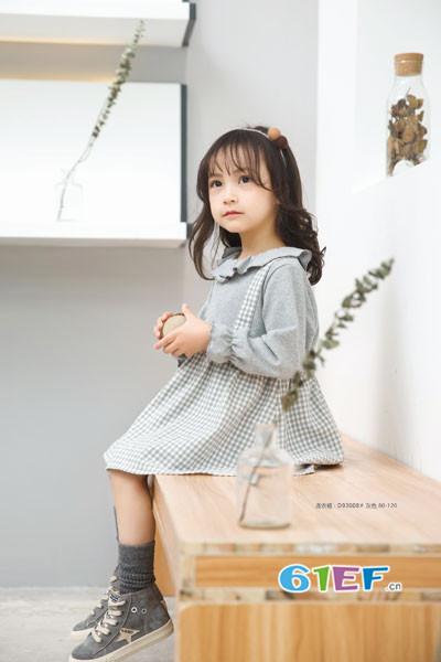 琦瑞德泽童装品牌2017年秋冬公主长袖连衣裙