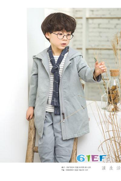 琦瑞德泽童装品牌2017年秋冬韩版中长款风衣