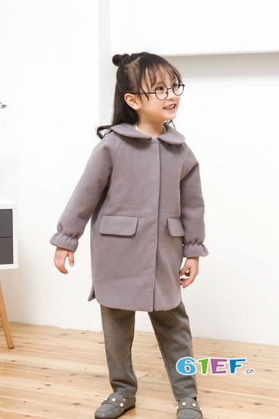 琦瑞德泽童装品牌2017年秋冬公主中长款休闲外套
