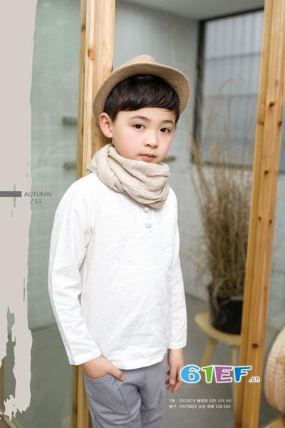 琦瑞德泽童装品牌2017年秋冬棉麻T恤