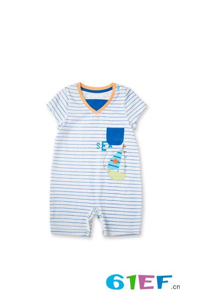 润婴宝爬行短袖连体服