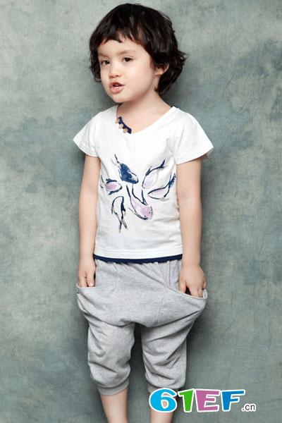 润婴宝休闲运动短袖T恤